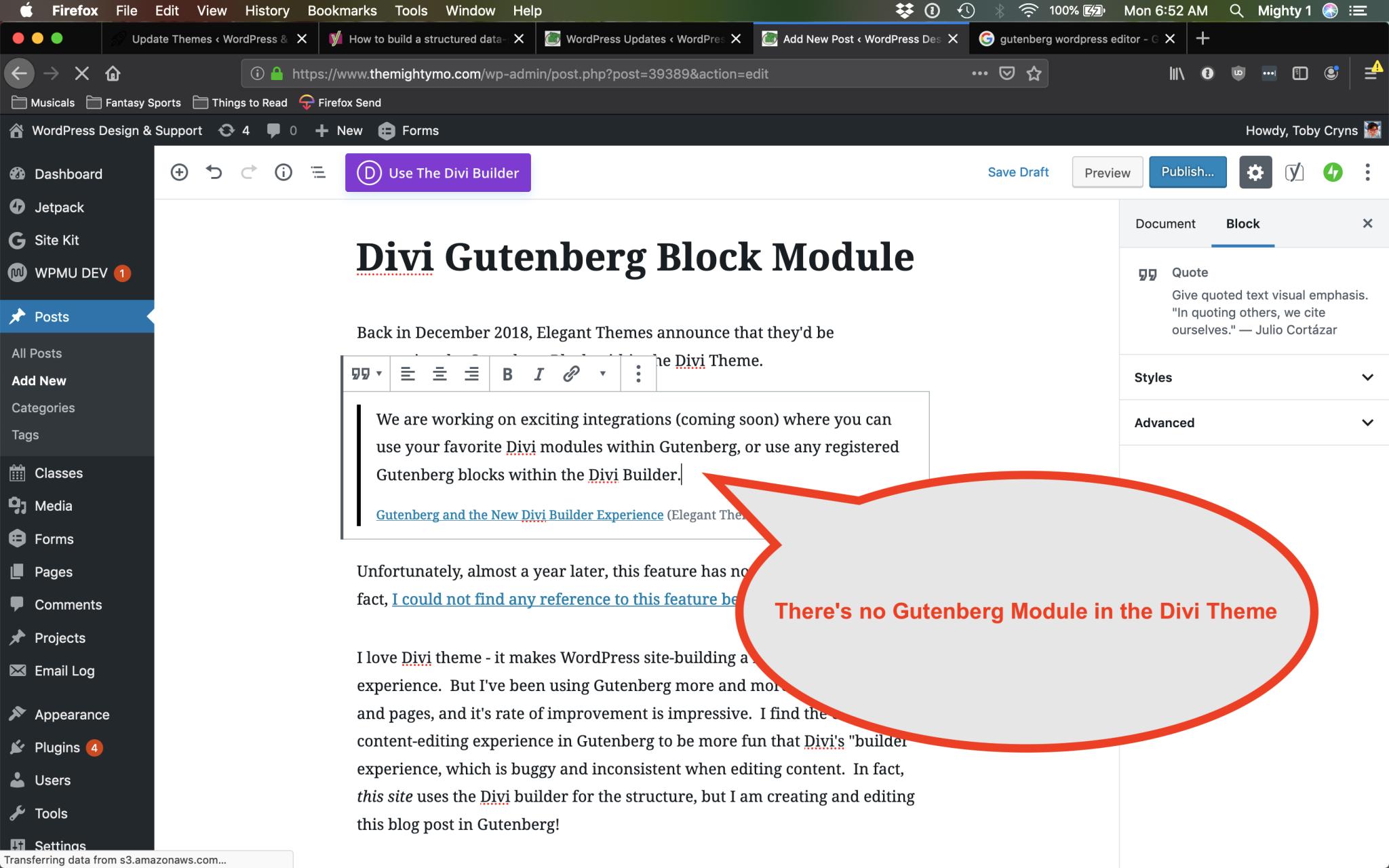 divi gutenberg module